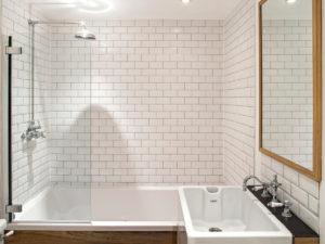 Стеклянная перегородка для ванной и душа под заказ (на заказ в Одессе)